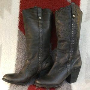 Dark Charcoal Gianni Bini Western Style Boots